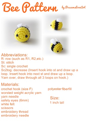Cute Bee Crochet Pattern   FaveCrafts.com