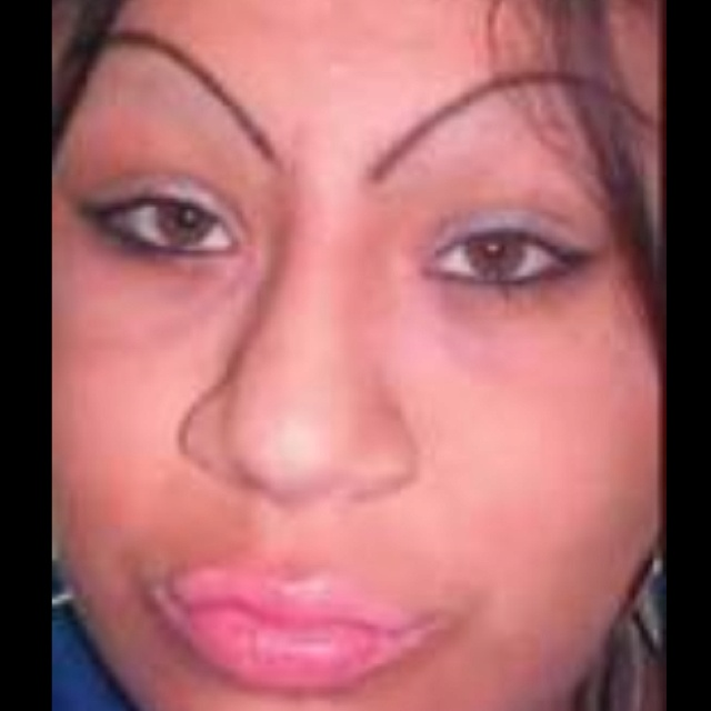 Over-plucked eyebrows