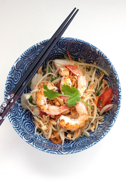 Red Shallot Kitchen: Green Papaya Salad (Som Tam) with Grilled Squid ...