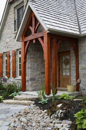 stone and timberframe