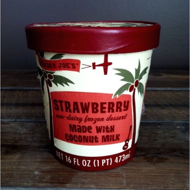 Trader Joe's Strawberry Coconut Milk Ice Cream.