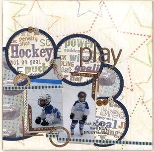 Hockey Scrapbook Paper