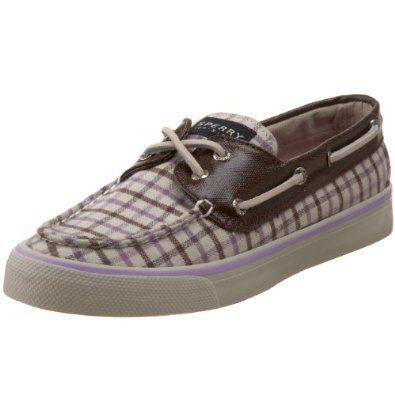 Sperry Womens Boat Shoes 9445578 Bahama Plaid Canvas Sperry Top-Sider