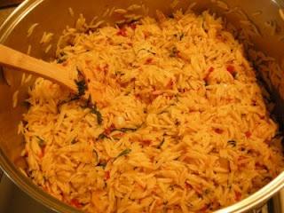 Basil & Sun-Dried Tomato Orzo | Fiesta en Mi Pansita | Pinterest
