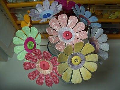 Fabric Flowers - use for review activities, leading, or peeking out of the pot if they sing well... or SOMETHING! Too cute.
