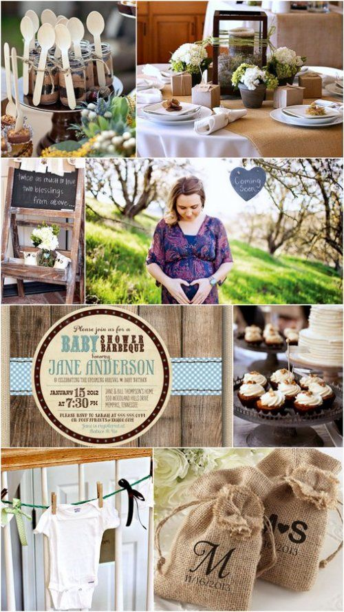 rustic baby shower ideas partytime pinterest