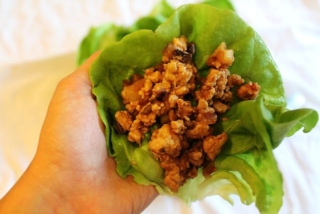 asian chicken lettuce wraps - used cooked chicken, was fine. Used less ...