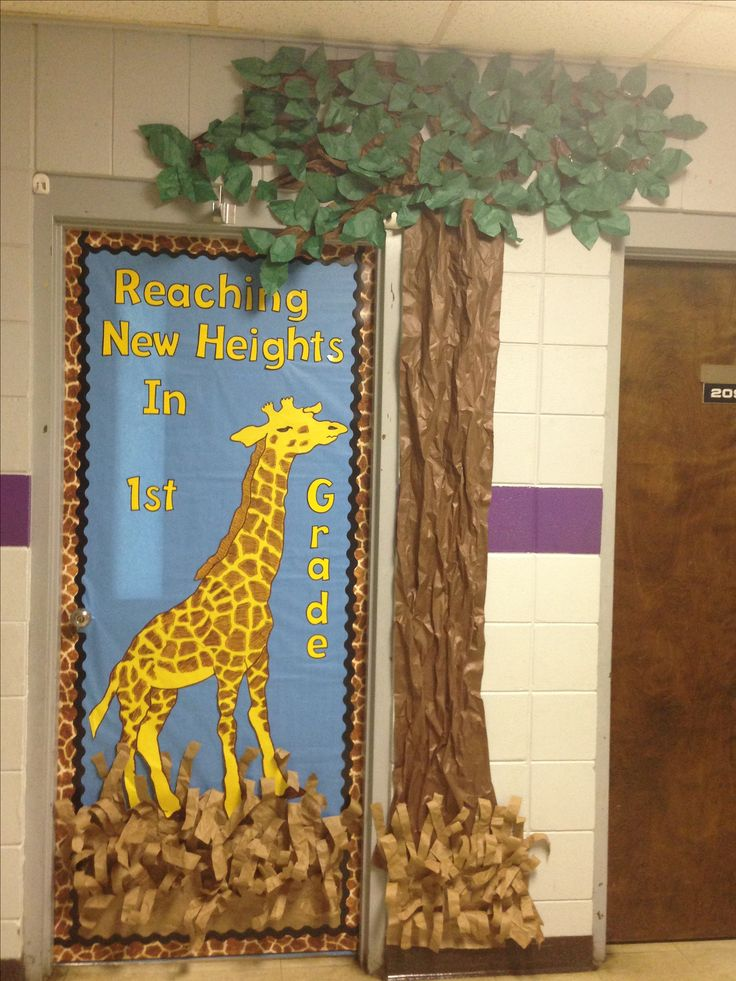 Classroom Door Ideas Jungle ~ Safari giraffe b o y door classroom pinterest