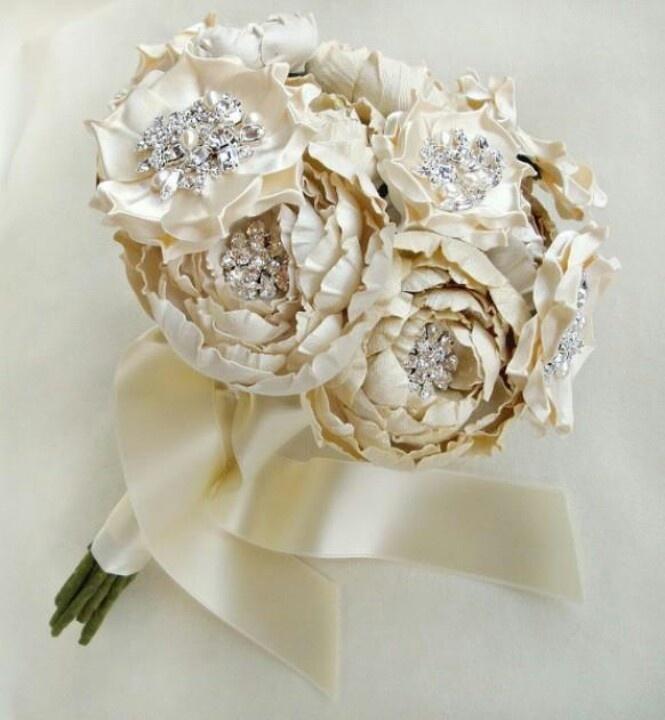 Vintage Silk Wedding Bouquet Wedding Ideas Pinterest