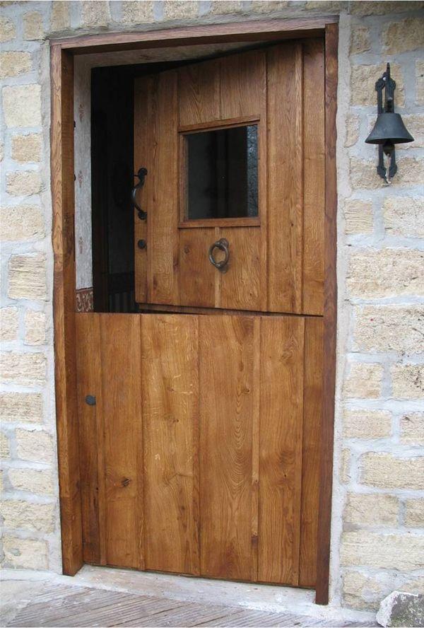Half barn door half barn door baby gate made from left for Half door ideas