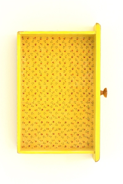 Gelbe Schublade als Wandregal // Yellow drawers mini-shelf by home-context via DaWanda.com