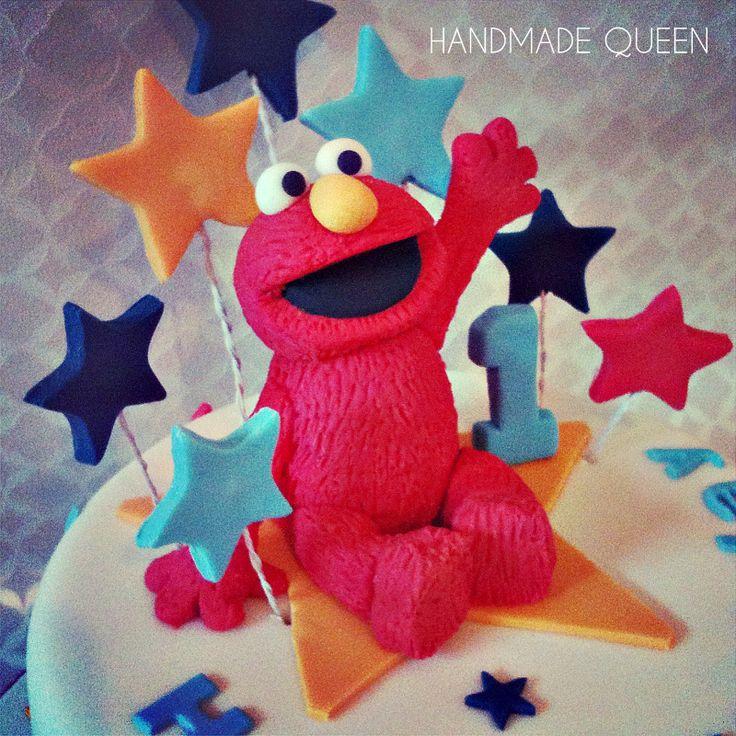 Elmo Cake Toppers Decorations : Elmo Birthday cake #elmo #cake #topper Handmade Queen ...