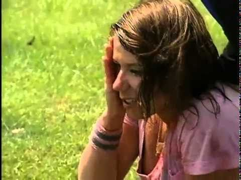 Claire catapults a watermelon into her face - The Amazing Race