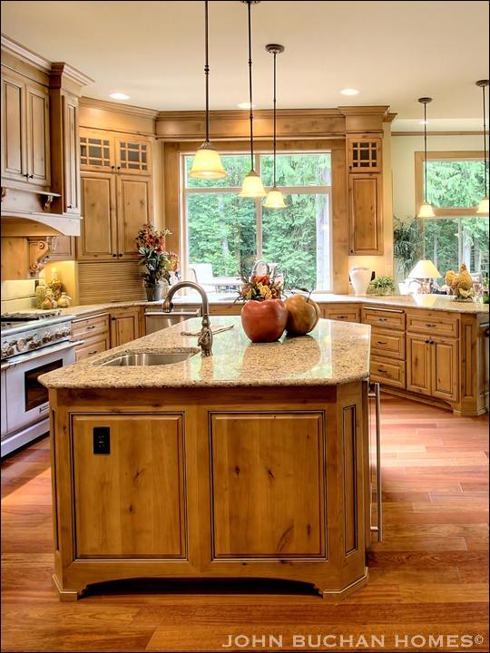 kitchen island with pendant lighting kitchens pinterest
