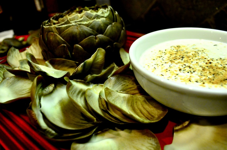 Paleo Artichoke with lemon dill dip | Gluten free - lifestyle change ...