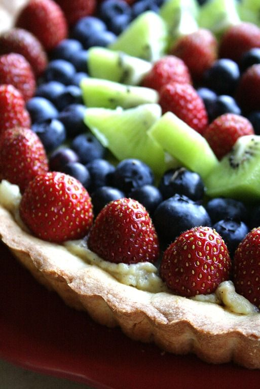 Vanilla and Almond Fresh Fruit Tart | A New Healthy Me | Pinterest