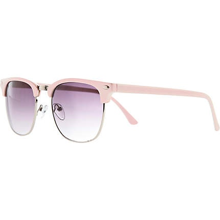 light pink half frame retro sunglasses  retro sunglasses  sunglasses
