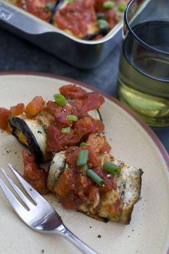 Light take on heavy eggplant Parmesan