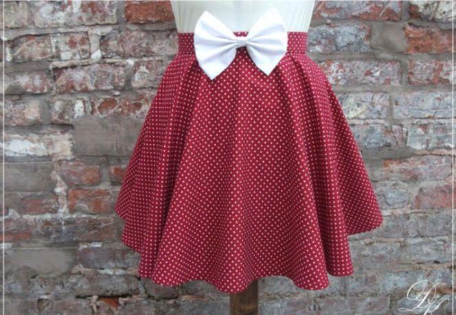 cute short polka dot circle skirt clothes pinterest