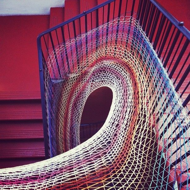 Amazing #yarnbomb, spotted at Dovecot Studios in Edinburgh, Scotland. Photo by Chris De Jong. http://knithacker.com/?p=9258 #knithacker