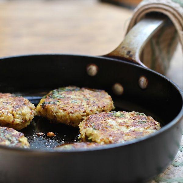 Quinoa Potato Cakes Florentine with Mustard Yogurt Sauce | Recipe