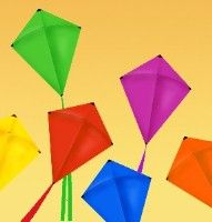 12 inch mini kites archway decoration let 39 s go fly a for Decoration kite