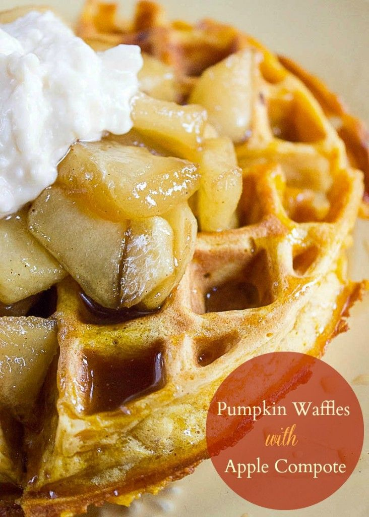 Pumpkin Waffles with Apple Compote *only made the waffles, but they ...