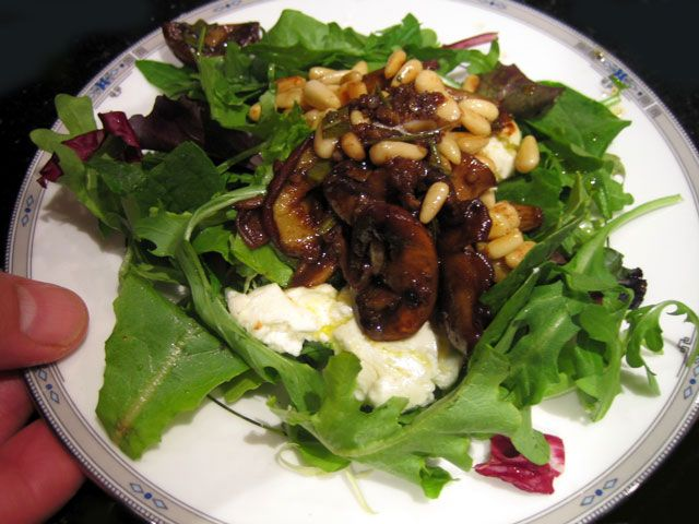 Warm Mushroom and Goat Cheese Salad | Recipe Box | Pinterest