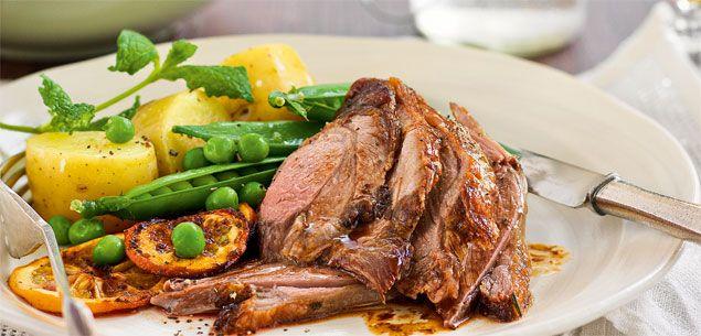 rosemary amp garlic and minted potato amp spring pea salad dinner food ...