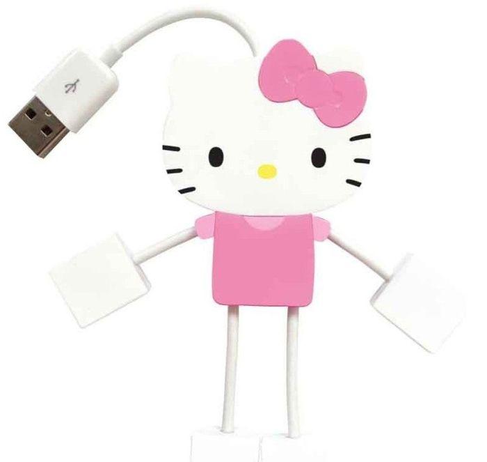 Hello Kitty 4-Port Kitty Hub USB