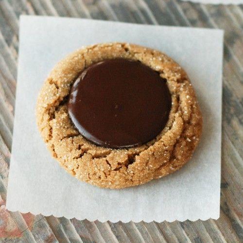 Chocolate kissed gingerbread cookies | Sweet Treats | Pinterest