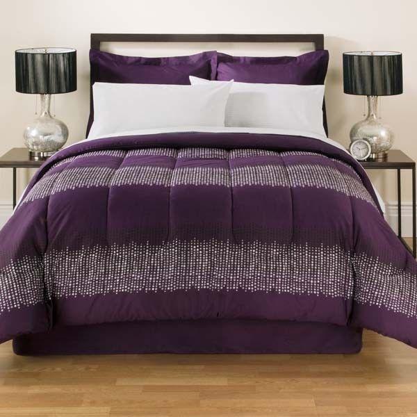 purple glitter bed in a bag queen size. Black Bedroom Furniture Sets. Home Design Ideas