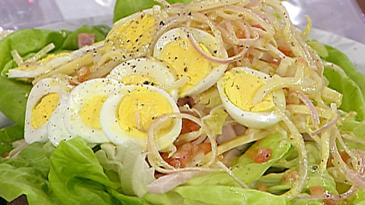 ... , belgian endive, cheese, ham, chicken breast and hardboiled eggs