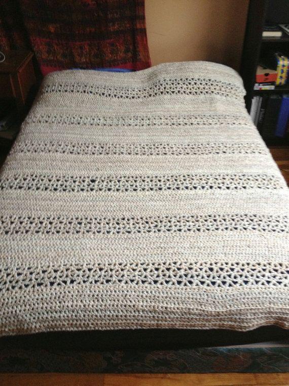 Crochet Queen Size Blanket Pattern : Tranquility Afghan - Hand crocheted queen size afghan
