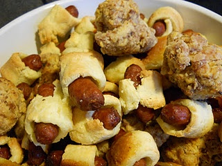 Gluten Free Pigs in a blanket and Italian Sausage balls