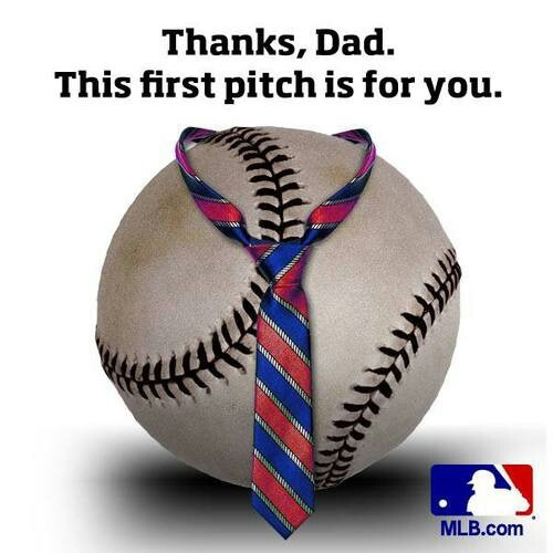 father's day baseball plate