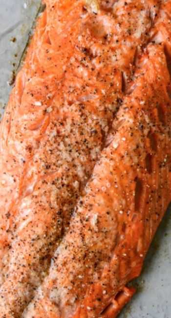 Garlic Butter Salmon with Caramelized Shallot Relish