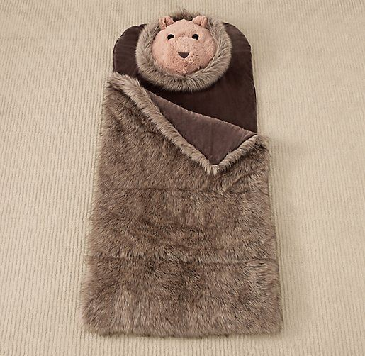 Luxe faux fur animal sleeping bag gadgets amp fun things pinterest