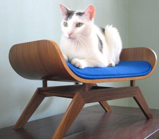 mid-century modern cat bed!