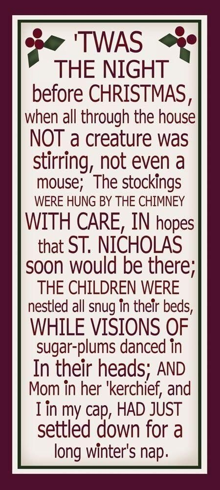 Twas The Night Before Christmas | QUOTES & SAYINGS | Pinterest