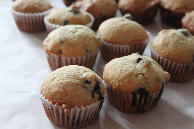 Blueberry Banana Muffins- my pregnancy craving today was blueberry's ...
