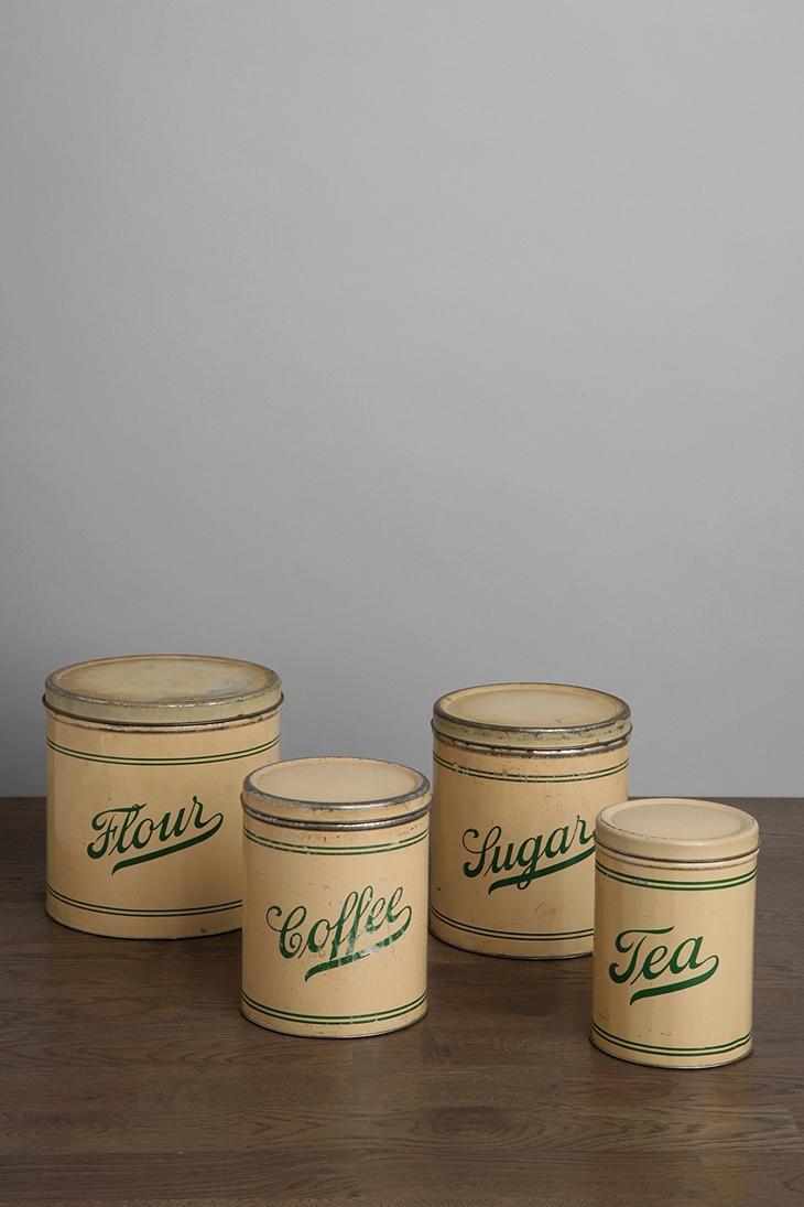 One Of A Kind Vintage Kitchen Canister Set Of 4