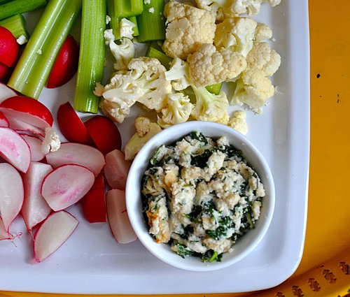 Warm Spinach-White Bean Dip With Crudites | Recipe