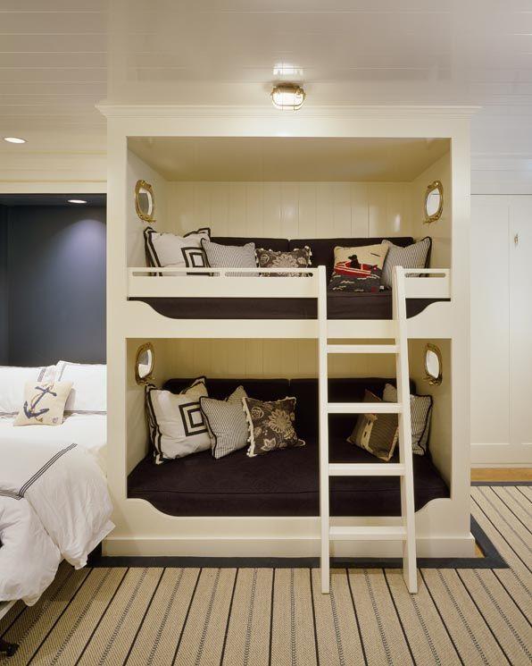 love pillows, built-in bunk, custom carpet