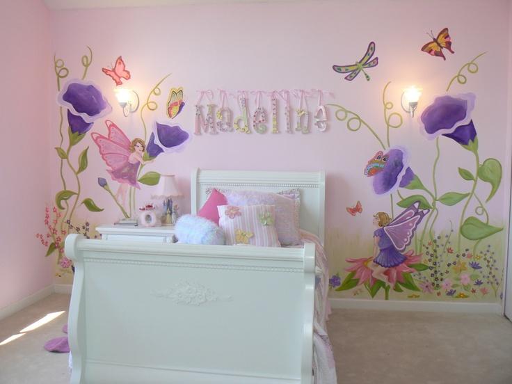 Pin by tara kriete on family pinterest for Fairy garden mural