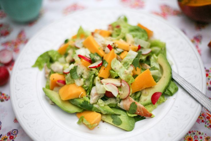 California Grilled Chicken Avocado And Mango Salad Recipes ...