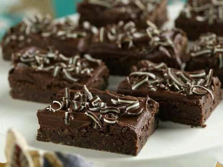 Mint-Chocolate Brownies   Scrumptious!   Pinterest