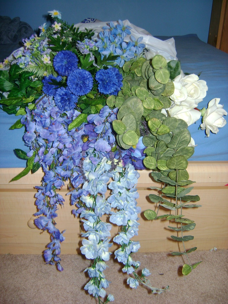 Chose these silk flowers at hobby lobby during a 50 off sale