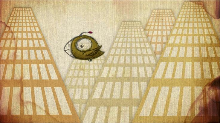 "Original concept illustration of bird and city for ""realize birds"" animation. http://dbd15.com"