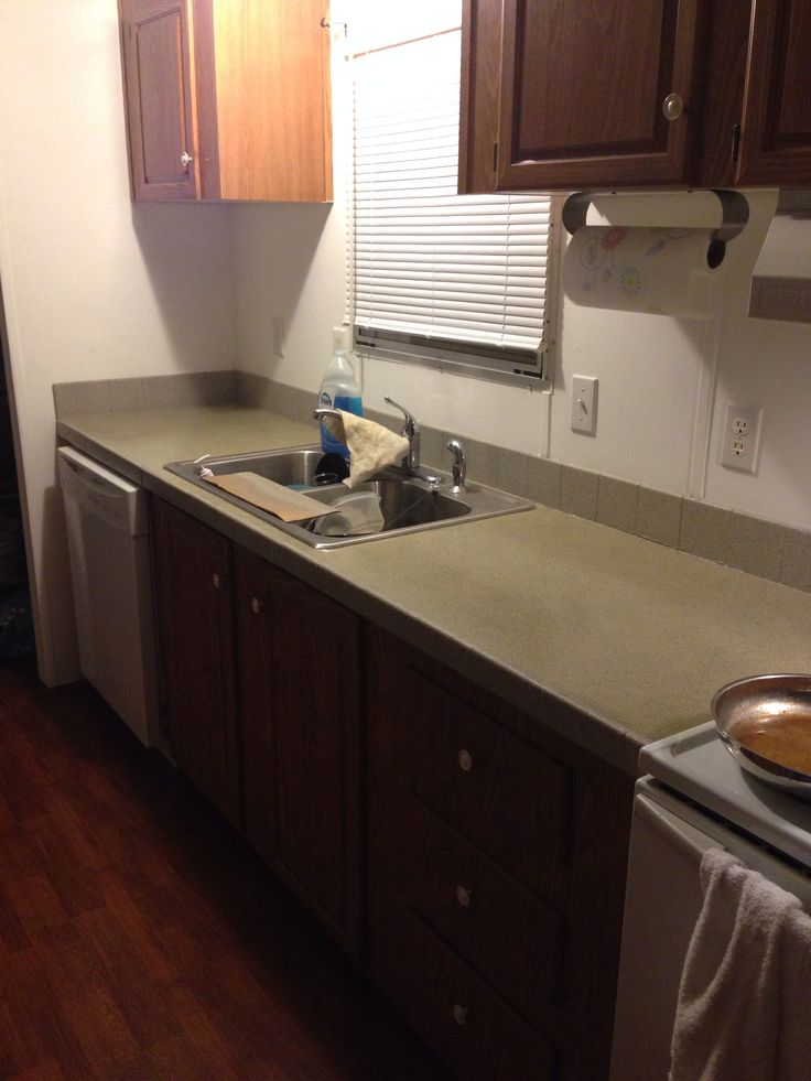 Rustoleum Countertop Paint On Formica : all my countertops in my mobile home...started out navy blue Formica ...